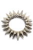 Double layered rhinestone spike bracelet