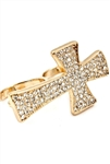 TWO FINGER CROSS RING