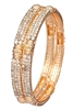Rhinestone embedded bangles. Set of two