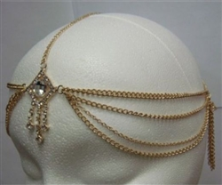 Center Rhinestone Head Chain