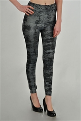 BLACK AND GRAY TIE DYE JEGGINGS