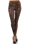 Leopard Leggings W/Zippers