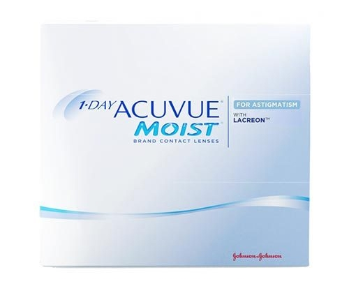 Acuvue Moist Daily disposable contact lenses astimagtism