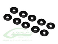 Aluminum Finishing Washers Black Matte
