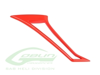 Composite Tail Fin Red - Goblin Urukay Carbon