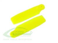 Yellow Plastic Tail Blades - Fireball