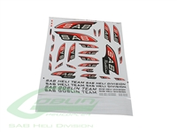 SAB Black Line Decal Set