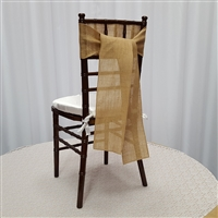 Burlap Chair Sashes Natural Color