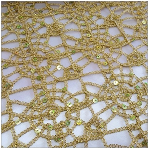 Corded Sequin Chain Lace