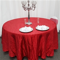 Champagne Creased Taffeta Tablecloth
