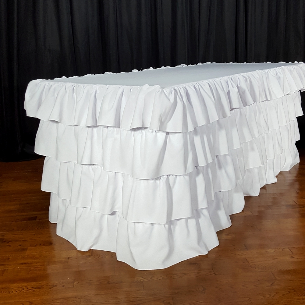 FOUR LAYER RUFFLE TABLECLOTH