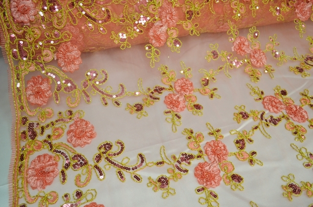 Floral Mesh Sequins By The Yard