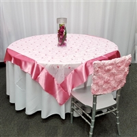 Flower Sequin Organza Table Overlay