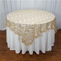 Embroider Mango Leaf Table Overlay