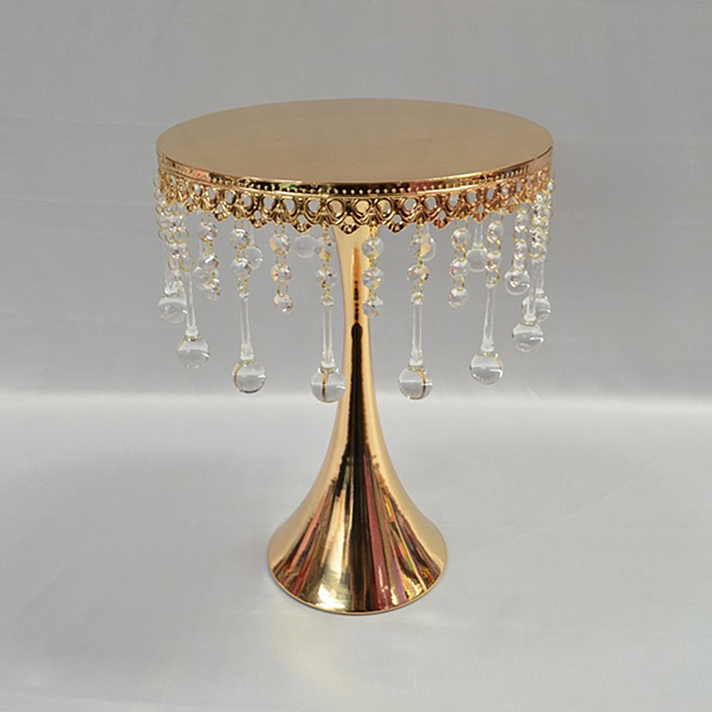 Beaded Gold Cake Stand