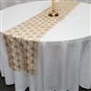 Diamond Sequin Cord Lace Table Runner