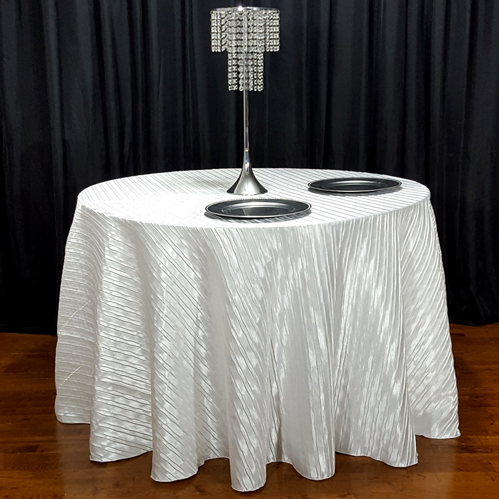 Italian Crushed Satin Tablecloth 120 Quot Round