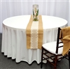 Burlap Table Runner With Cotton Lace