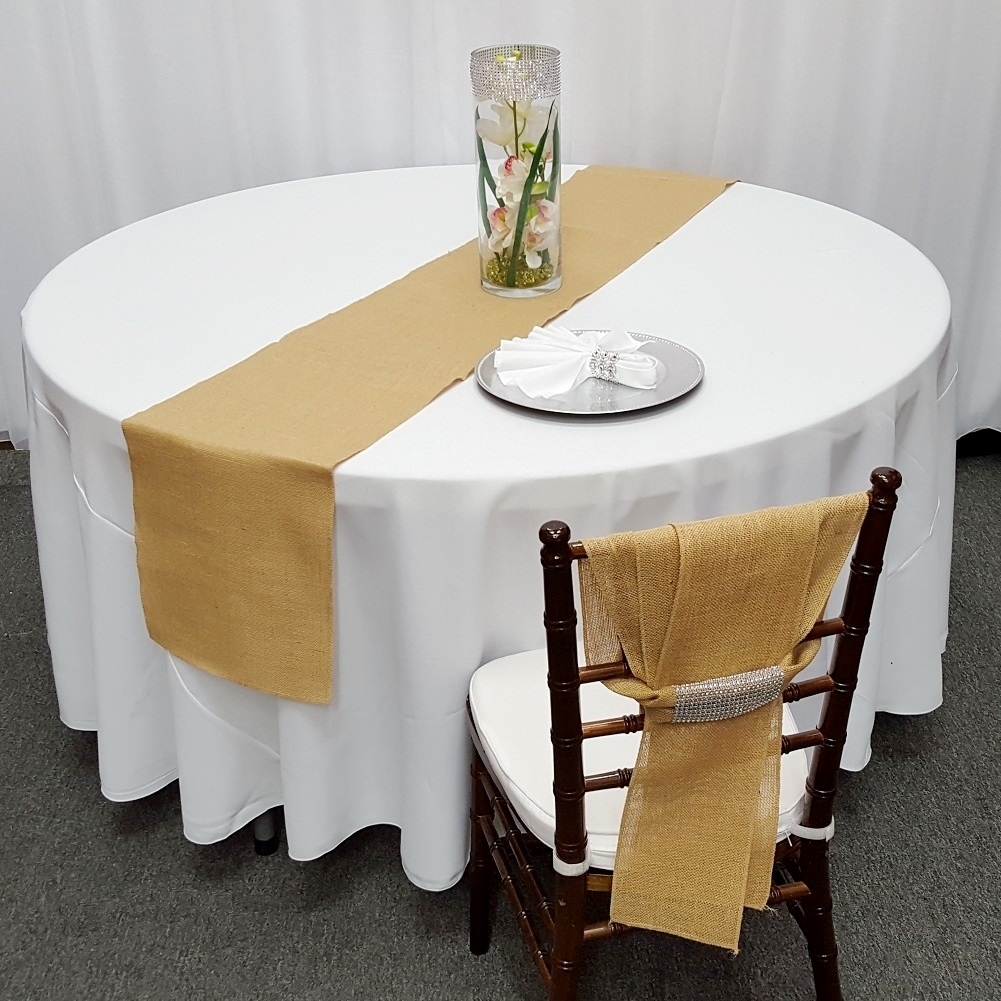 Superieur Natural Color Burlap Table Runner