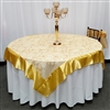 Wedding gold clover organza table overlay