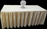 Pleated Fitted Polyester Tablecloth