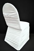 Ruffle Spandex Chair Cover With Band And Buckle
