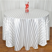 White Striped Tablecloth