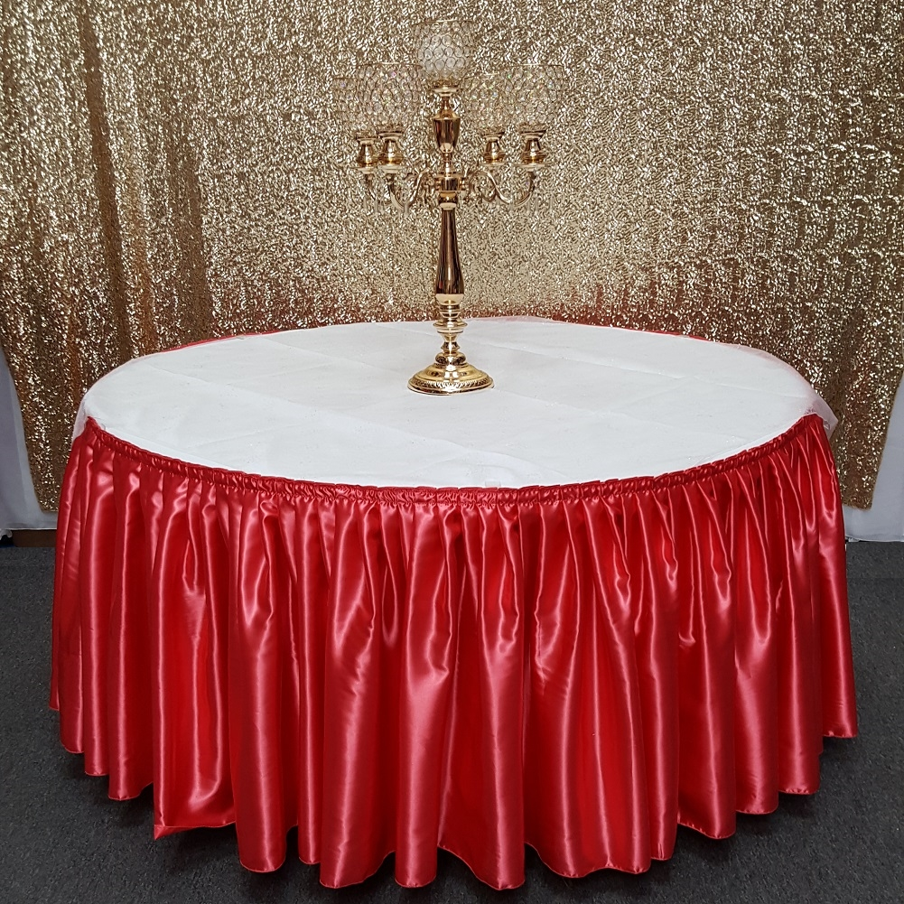 14 Feet Satin Table Skirt