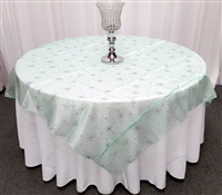 Organza Star Glitter Design Table Overlays