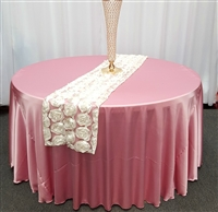 Ivory Lotus Flower Table Runner