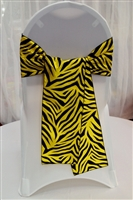 Zebra Taffeta Chair Sashes