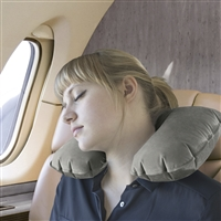 Talus Smooth Trip Gray Inflatable Travel Pillow