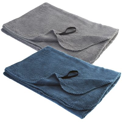 Talus Smooth Trip Gray Fleece Travel Blanket