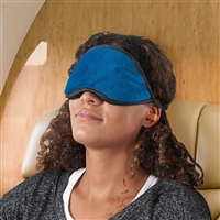 Smooth Trip Velvet Jersey Eye Shade Set with ear plugs and storage pocket