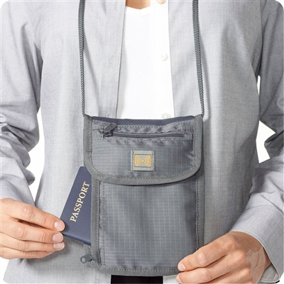 Talus Smooth Trip RFID Blocking Neck Wallet