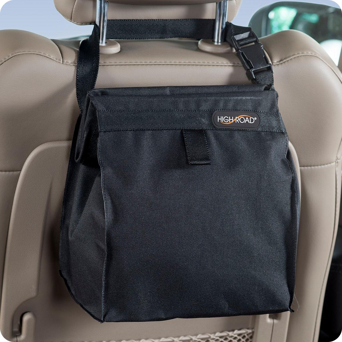 Black TrashStash Leakproof Hanging Car And Auto Litter Trash Bag