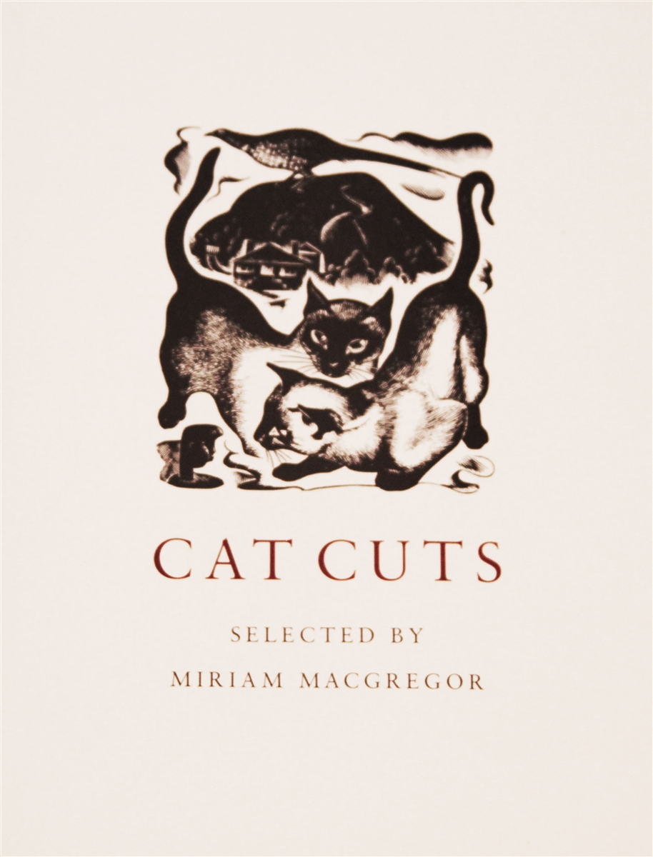 cat cuts by miriam macgregor a lovely collection of engraved cats