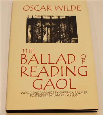 Photo of The Ballad of Reading Gaol by Oscar Wilde with wood engravings by Garrick Palmer.