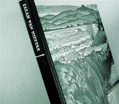 cover of limited edition with twenty-seven wood engravings chosen by the artist Sarah van Niekerk, printed from the block,  with an autobiographical note