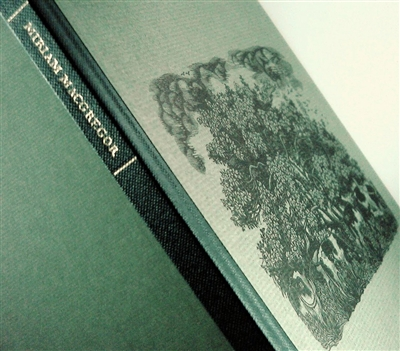 "cover of a signed limited edition of thirty-one captivating wood engravings by Miriam Macgregor printed from the block with an autobiographical note in which the artist describes her early fascination with the ""ravishingly beautiful"" English countryside"