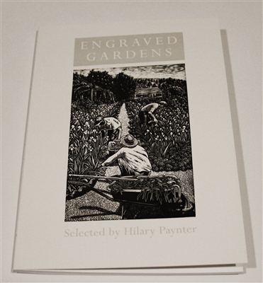 "cover of ""Engraved Gardens"" by Hilary Paynter, Primrose Hill Press, an enchanting collection by Paynter of engraved gardens by Paynter and other artists"