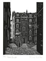 Signed original wood engraving of Hilary Paynter from Legal London collection
