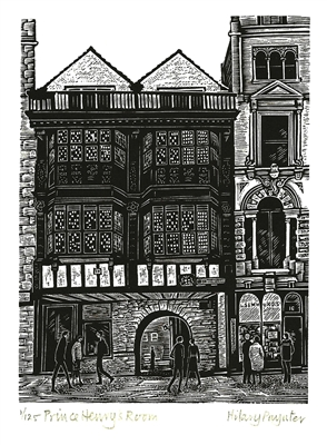 Signed original wood engraving by Hilary Paynter from Legal London collection