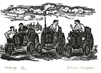 Signed original wood engraving by Miriam Macgregor from Engraver's Cut