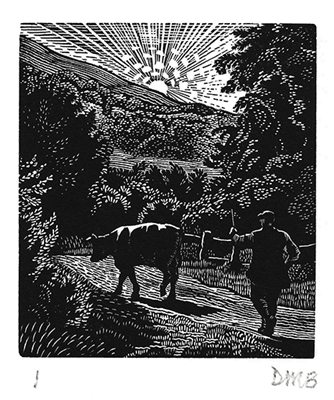 The Engraver's Cut (Diana Bloomfield): Cow and Cowherd