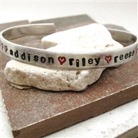 Personalized Mother's Bracelet, Aluminum Cuff