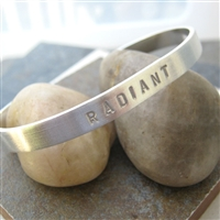 Radiant Bracelet, Hand Stamped, Choose your words