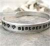 Sister's Bracelet, Sisters by Birth, Friends by Choice