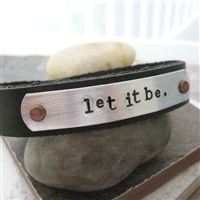 Let It Be Leather Cuff Bracelet