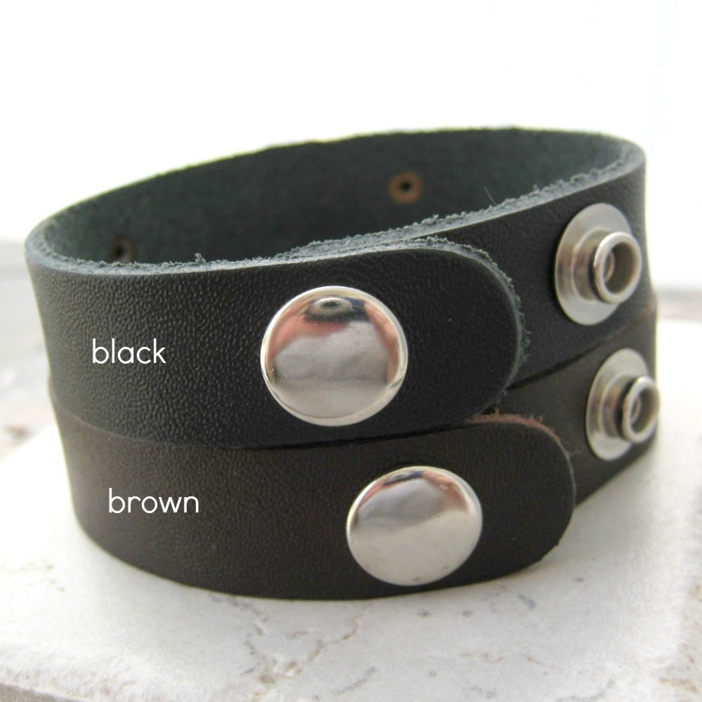 9807706446d Love You More / Impossible Leather Cuff Bracelets